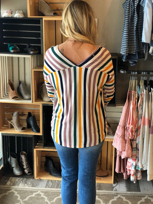 Kaycee Multicolor Knotted Top