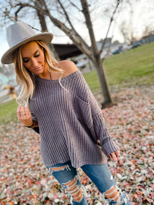 Danielle Knit Sweater with Pocket