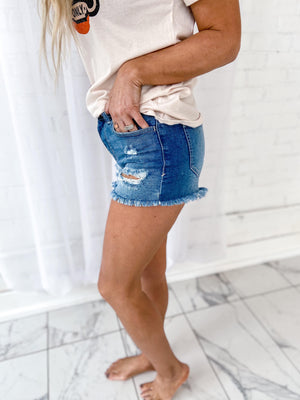 Holly High Rise Jean Shorts