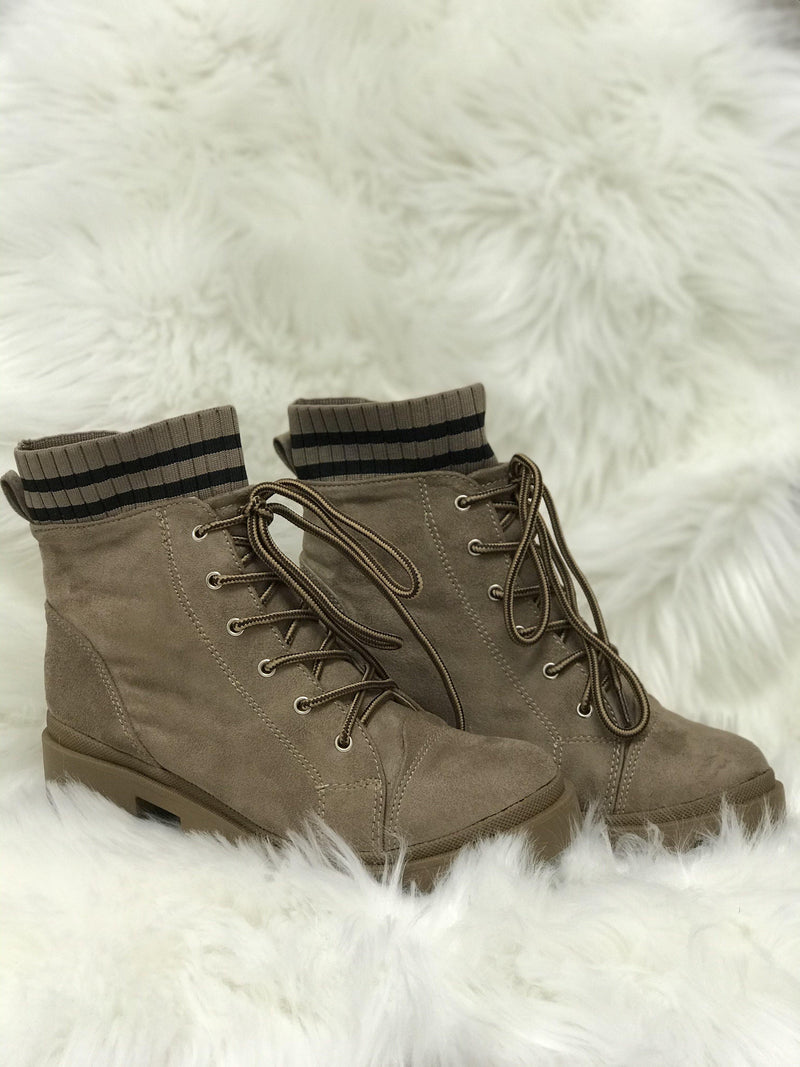Bump Combat Block Heel Booties - Trendsetters Fashion Boutique