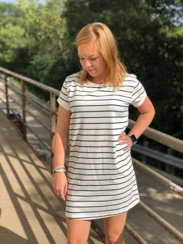Ana Striped Shift Dress