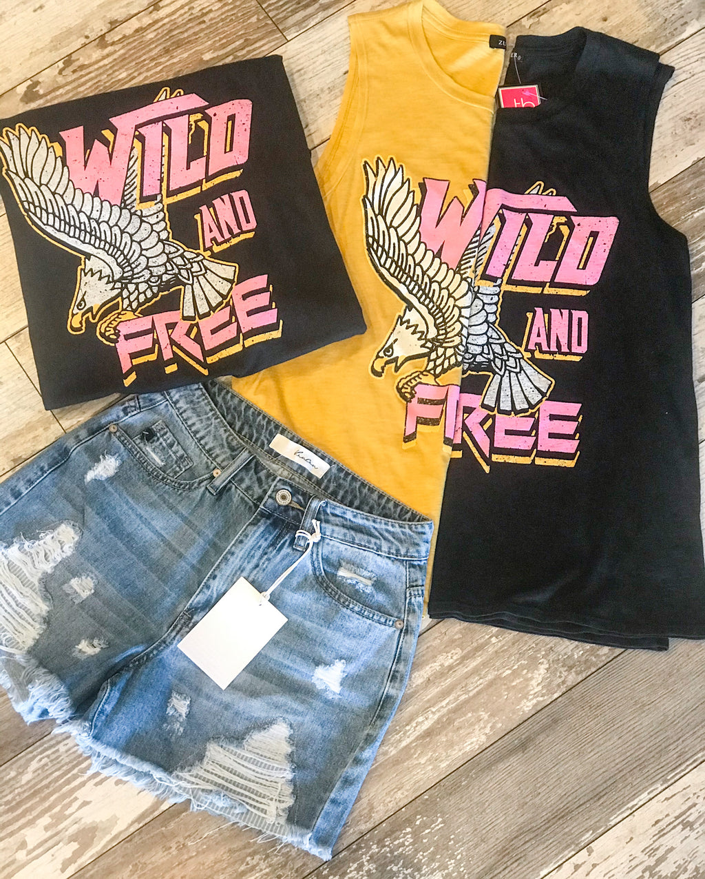 Wild and Free Graphic Tank Top