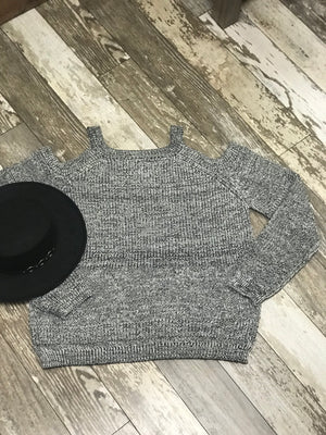 Doreen Cold Shoulder Curvy Sweater