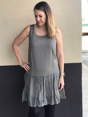Ruffled Hem Layering dress/tank