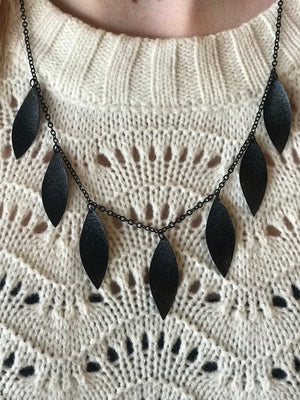 Eden Leaf Fringe Necklace