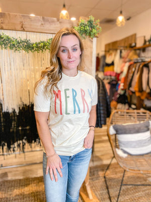 Colorful Merry Graphic Tee