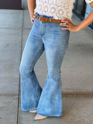 Cynthia High Rise Flare Jeans