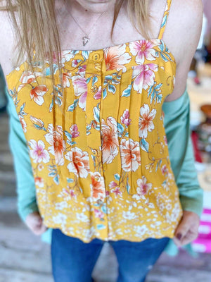Renata Floral Sleeveless Blouse