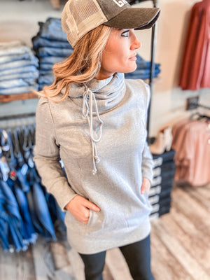 Lucy French Terry Hoodie With Cowlneck