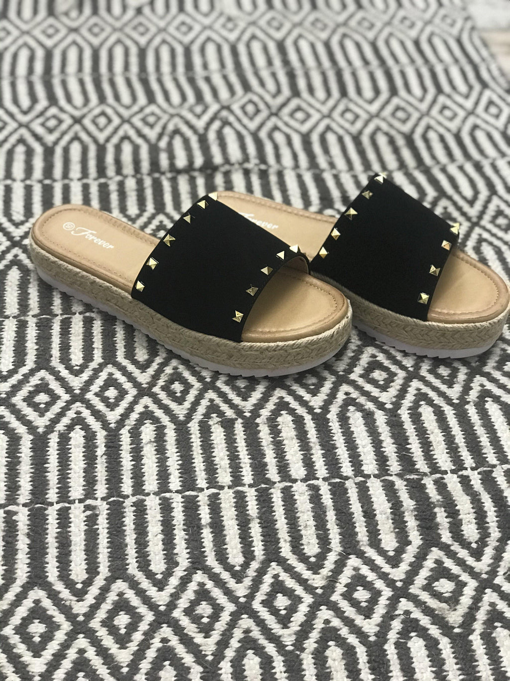 Josey Studded Slides - Trendsetters Fashion Boutique