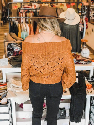Abby Off The shoulder Knit Sweater