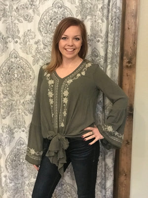 Delaney Boho Tie Top