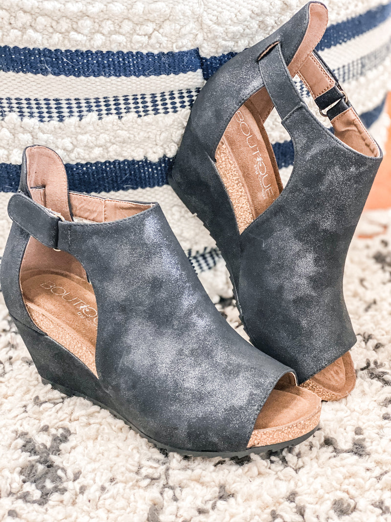 Sunburst Metallic Wedges