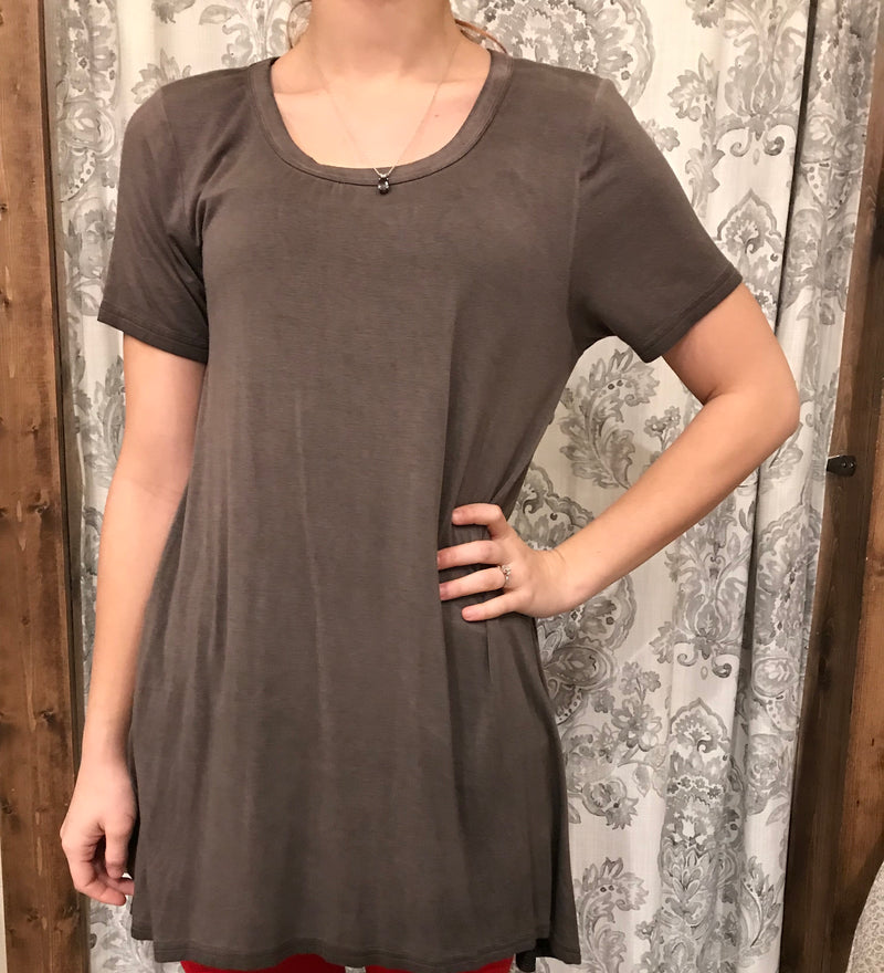 Vintage Wash High low Tunic