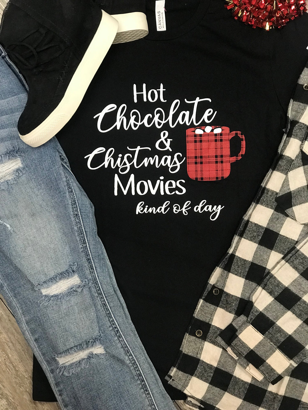 Hot Cocoa and Christmas Movies Graphic Tee