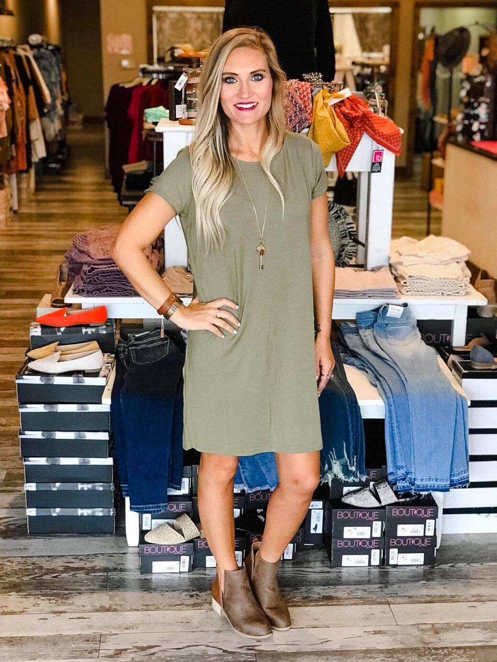 Basic Bamboo T-shirt Dress