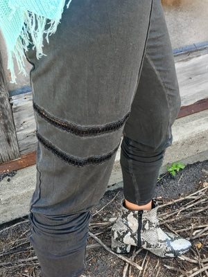 Joggers with Side Crochet