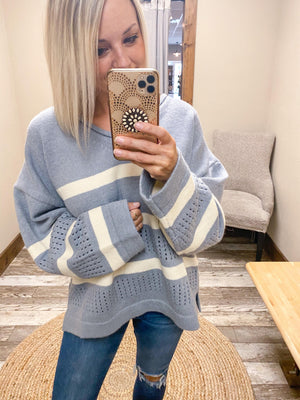Keily Oversized Laser Detail Sweater