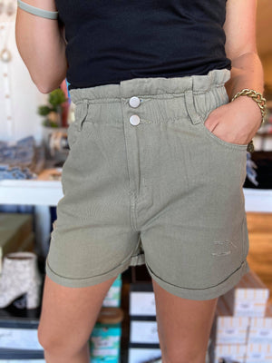 Vintage High Waist  Distressed Shorts