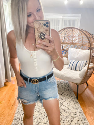 Henley Tank Top Bodysuit