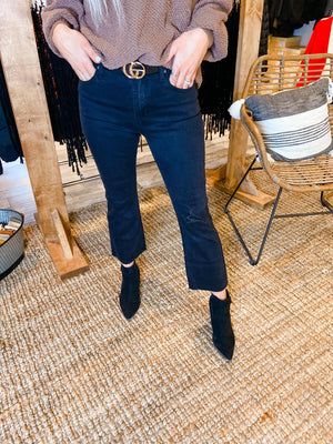 Demi Boot Raw Hem Jeans