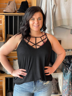 Randy Criss Cross Tank - Trendsetters Fashion Boutique