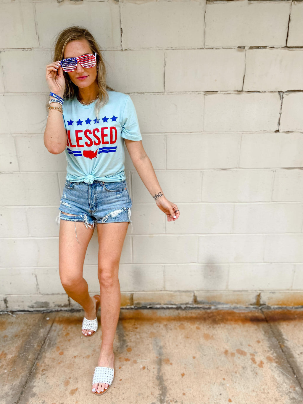 Blessed American Graphic Tee