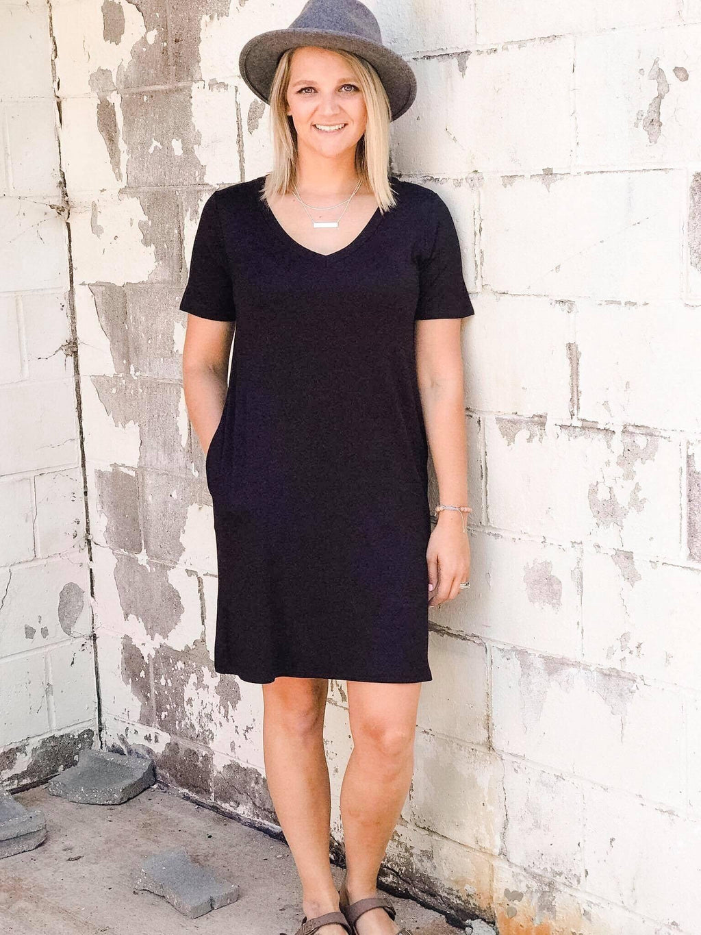 Alanis V-neck Bamboo T-shirt Dress