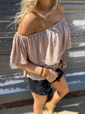 Cold Shoulder Crop Top