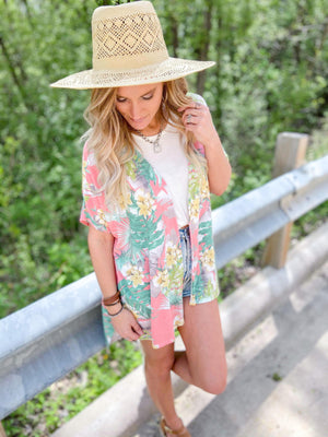 Floral Tropical Cardigan