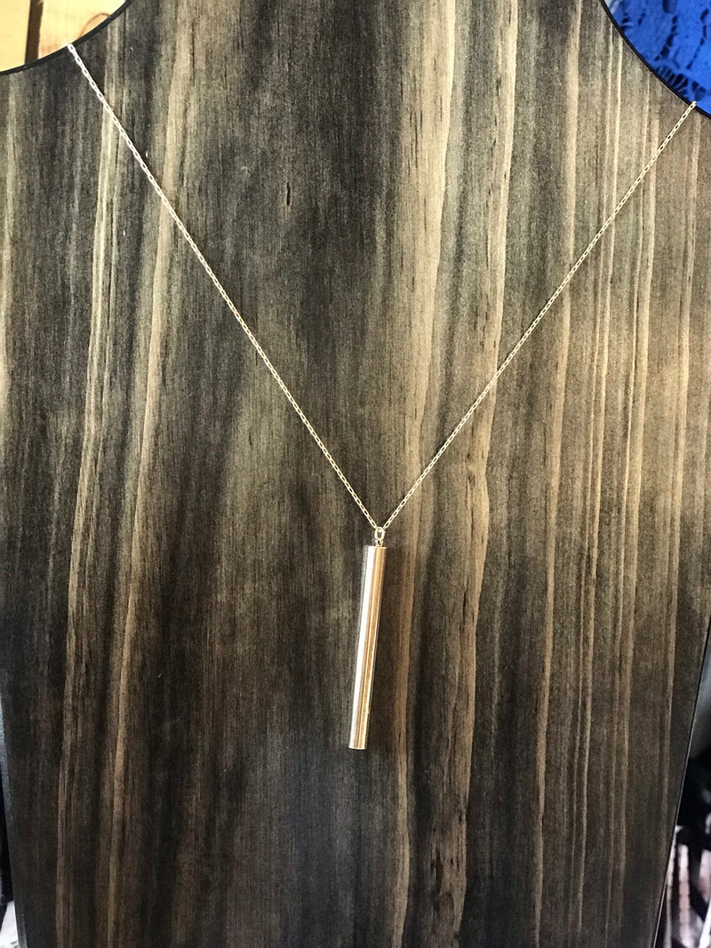 Metal Bar Pendant Long necklace