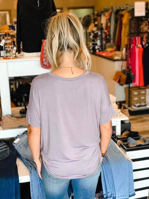 Alecia Bamboo Pocketed Tee