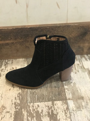 Emilia Black Short Booties