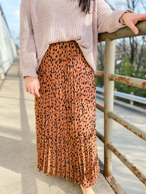Toffee Animal Print Maxi Skirt