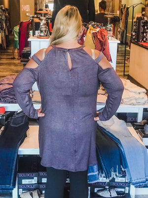 Aspen Mauve Cold Shoulder Tunic