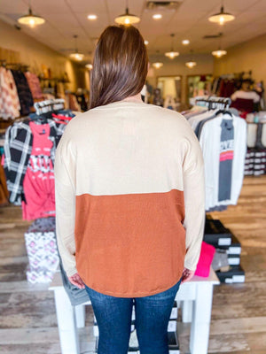 Knit Curvy Color block Pull Over Sweater
