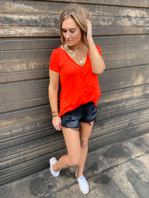 Deep V Pocket Tee