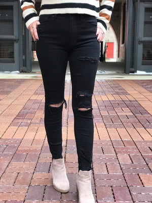 Black Shadow Bella High Rise Skinny Jeans