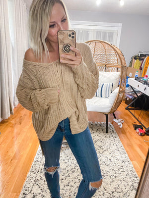 Frankie Distressed Knit Sweater