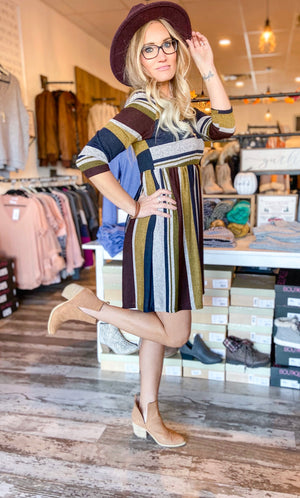 Penny Stripe Tunic Mini Dress
