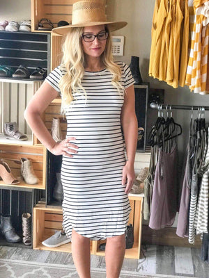 Eliza Striped Midi Dress