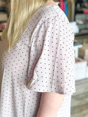 Bev Bell Sleeve Polka Dot Top