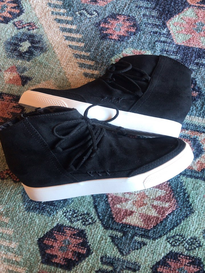 Ursula Black Sneaker Wedges