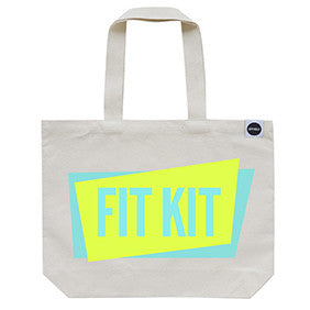 70% OFF! - 'Fit Kit' Gym Bag Neon Yellow/Aqua