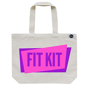 70% OFF! - 'Fit Kit' Gym Bag Neon Pink/Purple