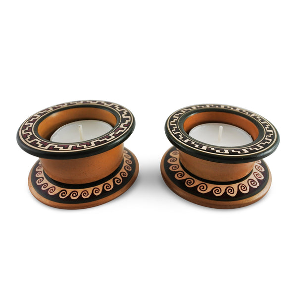 Fairtrade Peruvian Clay Candle Holder- Set of 2