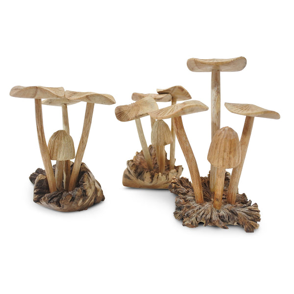 Magical Balinese Handcarved Mushrooms