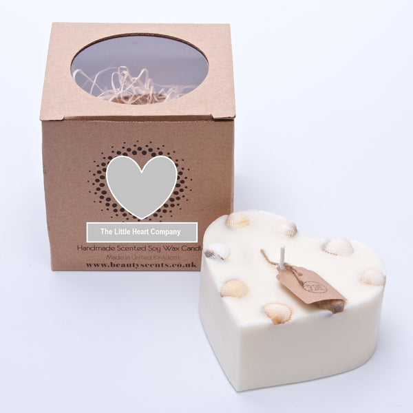 Heart Shaped Scented Candle- Lavender