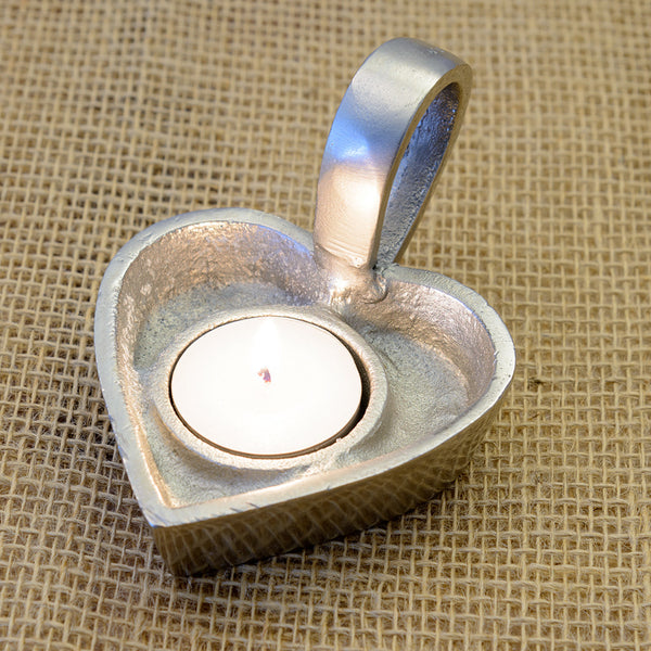 Heart Shaped Tea Light Holder with Handle