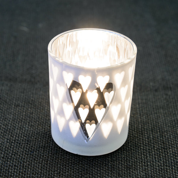 Glass Silver Tea Light